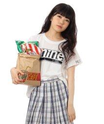 PINK-latte/ロゴプリントTシャツ/001948071