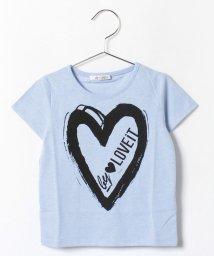 byLOVEiT/ハートロゴプリントTシャツ/001943528