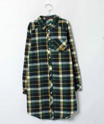 Lovetoxic/チェック柄ロング丈ネルシャツ/001943593