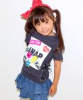 ANAP KIDS/編み上げ風 ROCKTシャツ/001945733
