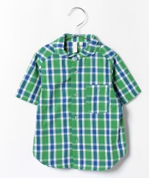 LAGOM/先染めチェック半袖シャツ/001945781