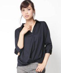 VICKY/カットジョーゼット異素材7分袖シャツ/001951732