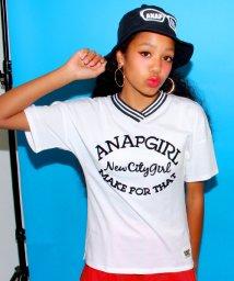 ANAP GiRL/リブラインロゴTシャツ/001951180