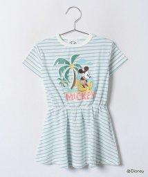 ANAP KIDS/ALOHAミッキーTシャツワンピース/001952871