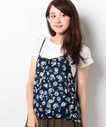 Ray Cassin /花柄キャミxTシャツ/001954091