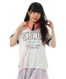 PINK-latte/ロゴシフォンゆるTシャツ/001958204