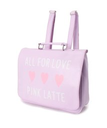 PINK-latte/ロゴ横長リュックバッグ/001958216