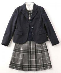 KUMIKYOKU KIDS/【PURETE】フレアーギャバ ジャケット(替えボタン&ワッペンブローチ付き)/001959105