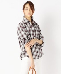 NIJYUSANKU/【洗える!】オンブレーチェック ネルシャツ/001959140