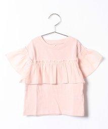 petit main/袖胸フリルT(5分袖)/001961596