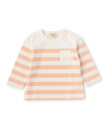 green label relaxing (Kids)/【BABY】ボーダー ポケット Tシャツ ロングスリーブ/001969382