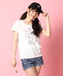 PINK-latte/ロッキンクマちゃんプリントTシャツ/001971089