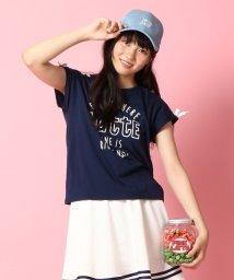PINK-latte/ショルダーレースアップカットソー/001971091