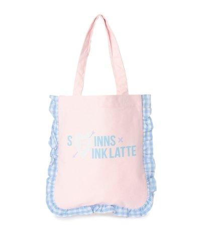 PINK-latte×SPINNS フリルトートバッグ
