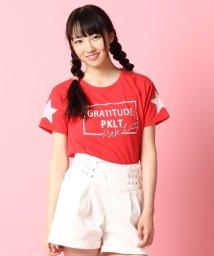 PINK-latte/ロゴプリントスターTシャツ/001975678