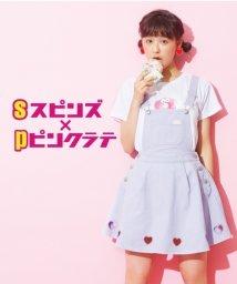 PINK-latte/spinnsコラボドーナツプリントTシャツ/001975684