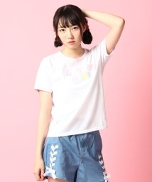 PINK-latte/spinnsコラボもこもこロゴTシャツ/001975686