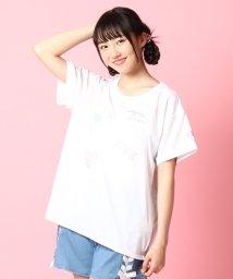PINK-latte/spinnsコラボハート+ロゴTシャツ/001975687