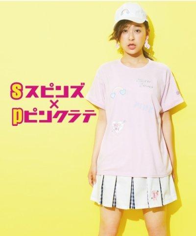 spinnsコラボハート+ロゴTシャツ