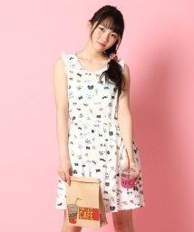 PINK-latte/総柄POP天竺ワンピース/001975689