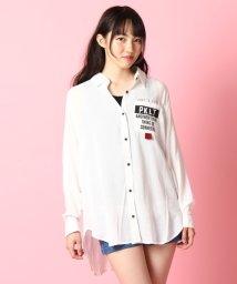PINK-latte/ブロードロゴロングシャツ/001975701