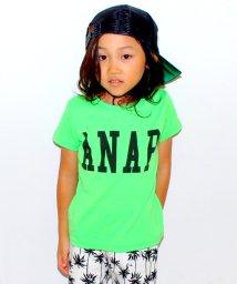 ANAP KIDS/BACKメッセージロゴTシャツ/001970042