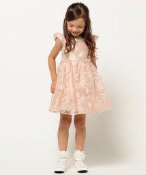 anyFAM(KIDS)/【SCHOOL】バックサテンシャンタン×花総柄オーガンジー ドレス/001978364