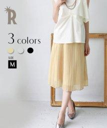REAL CUBE/lil nina ウエストリボン箔ラメ細プリ-ツスカート/001976519