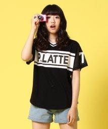 PINK-latte/袖メッシュスポーティTシャツ/001979642