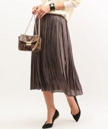 ROPE' mademoiselle/メタリックシャイニープリーツスカート/001983786