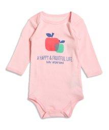 baby ampersand / F.O.KIDS MART/くま&リンゴモチーフボディシャツ/001979803