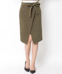 VICKY/ベルト付ラップタイトスカート/001984084