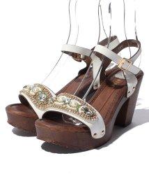 Shoes in Closet/【AngelArt】アンクルストラップジュエリーサンダル/001970172