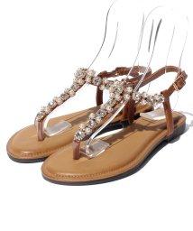 Shoes in Closet/【angelato】アンクルストラップフラットジュエリートング/001970178