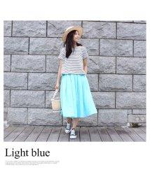 MODE ROBE/【STORY 9月号掲載】リネンフレアカラースカート/001971303