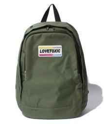 Lovetoxic/ワッペンつきロゴ入りリュック/001984730