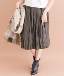 URBAN RESEARCH ROSSO/ヴィンテージサテンプリーツ切替スカート/001999310