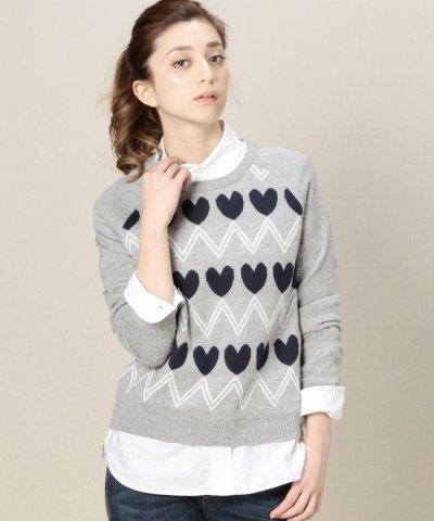(SUGARHILL BOUTIQUE)ジグザグハートショート丈セーター