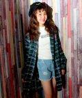 ANAP GiRL/タータンチェックロングシャツ/001992452