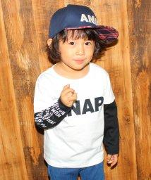 ANAP KIDS/重ね着風袖メッセージロングTシャツ/001994348