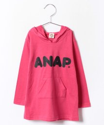 ANAP KIDS/シンプルフーディーワンピース/001994351