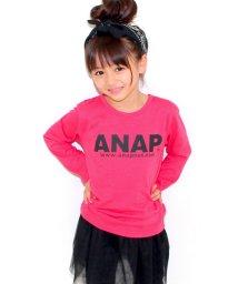 ANAP KIDS/NETオリジナル ANAPお揃いロゴ/アドレス ロングTシャツ/001995610