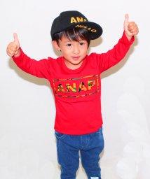 ANAP KIDS/柄型押しロゴ7分丈ロングTシャツ/001995611