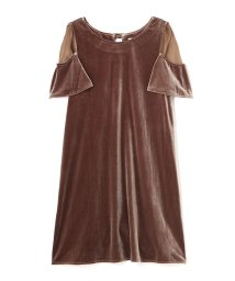 JILL by JILLSTUART/VELOR×SHEER DRESS/10239390N