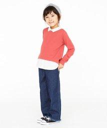 petit main/衿付シャツレイヤードTシャツ/002000180