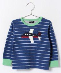 kladskap/飛行機編みモチーフ長袖Tシャツ/002000162