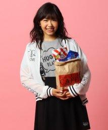 PINK-latte/ロゴ刺しゅうシフォンブルゾン/002013981