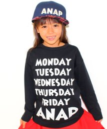 ANAP KIDS/WEEK BIGロングTシャツ/002000918