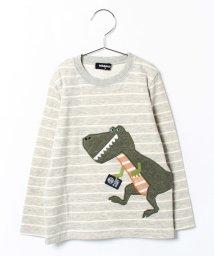 kladskap/トラベルザウルスアップリケ長袖Tシャツ/002001146