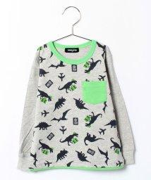 kladskap/ob恐竜総柄長袖Tシャツ/002001147
